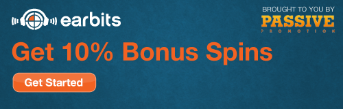 Earbits 10% bonus spins