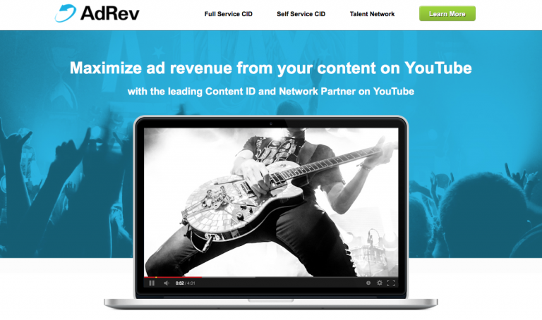 Audiam, AdRev, and YouTube Content ID