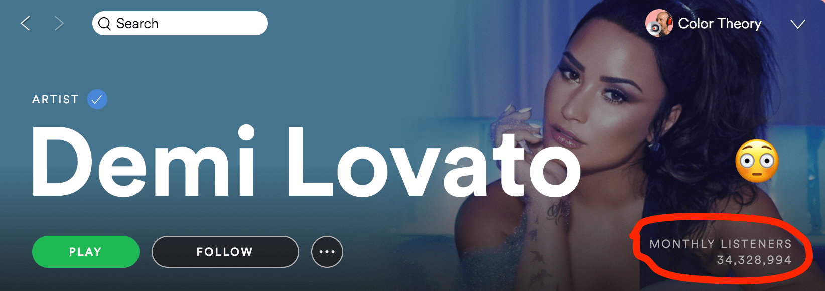 Demi Lovato on Spotify