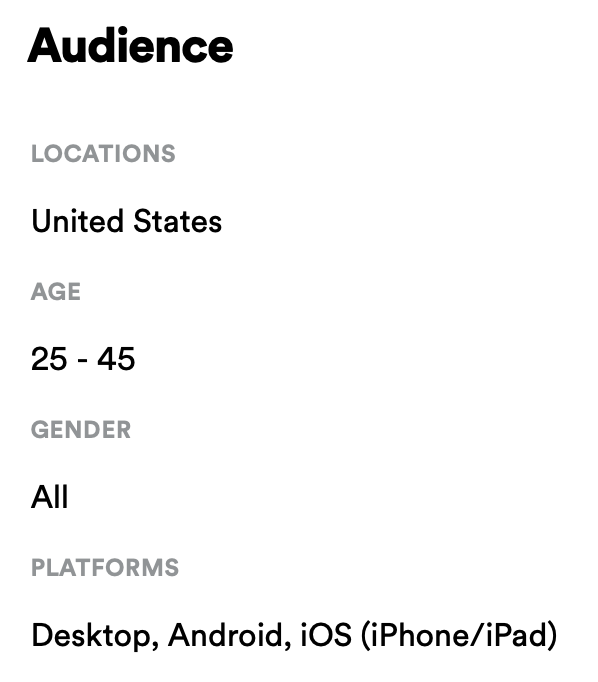 ad audience