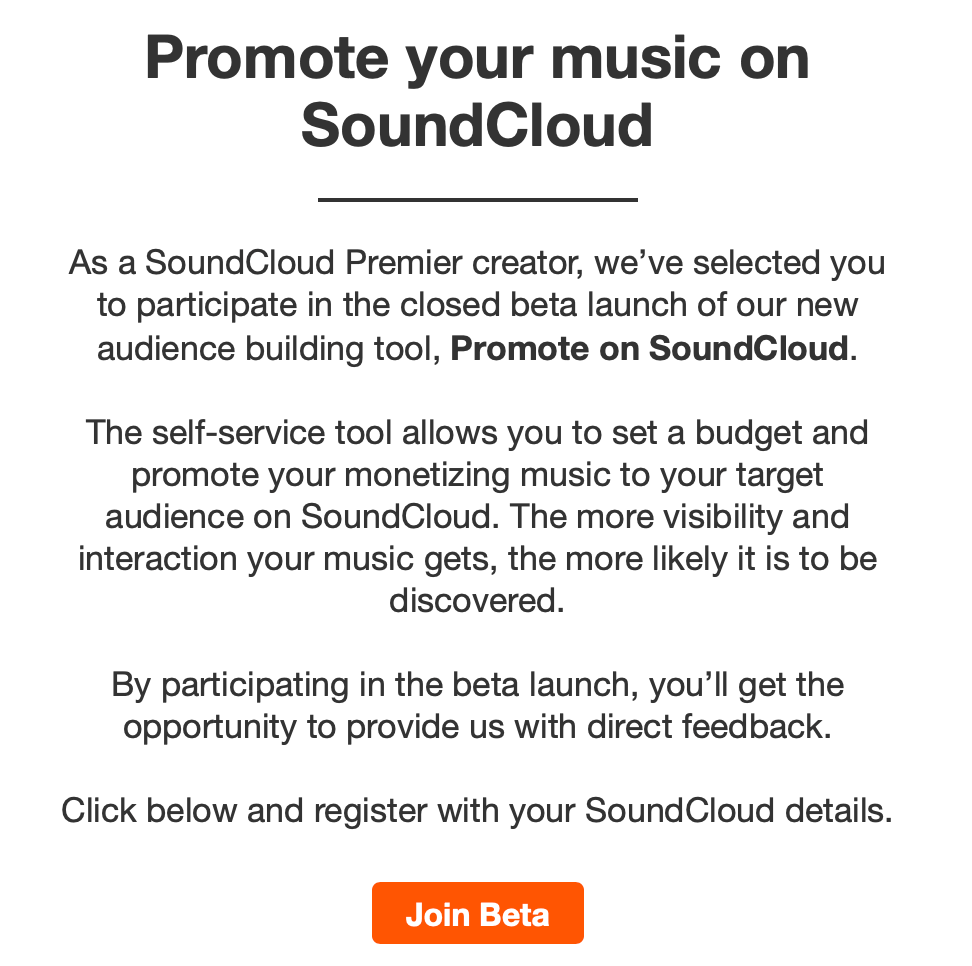 Promote on SoundCloud
